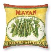 Mayan Peas Throw Pillow