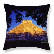 Mayan Pyramid Throw Pillow