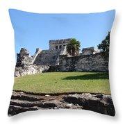 Mayan Temple Throw Pillow