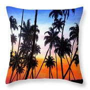 Mayaro Red Dawn Throw Pillow