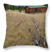 Mccarthy Family Cabin Glacier National Park Throw Pillow