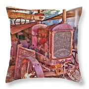 Mccormack Deering Tractor  Throw Pillow