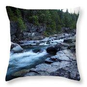 Mcdonald River Glacier National Park - 3 Throw Pillow