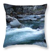 Mcdonald River Glacier National Park - 4 Throw Pillow