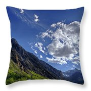 Mcgee Creek Canyon Throw Pillow