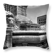 Mckinley Memorial In Black And White Throw Pillow