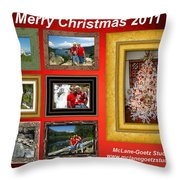 Mclanegoetz Studio Christmas Card Throw Pillow