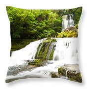 Mclean Falls In The Catlins Of South New Zealand Throw Pillow