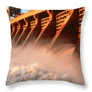 Mcnary Dam Throw Pillow by DOE/Science Source