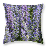 Meadow Sage Flowers Throw Pillow