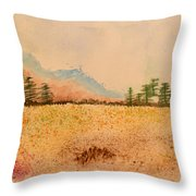 Meadow Wildflowers - Watercolor Throw Pillow