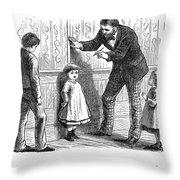 Measuring Children, 1876 Throw Pillow