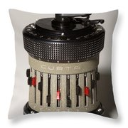 Mechanical Calculator Throw Pillow