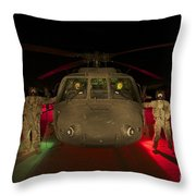 Medevac Crewmembers Stand Throw Pillow
