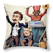 Medical Charlatan Selling Quack Cures Throw Pillow