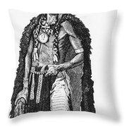 Medicine Elk Throw Pillow