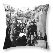 Medics Remove A Casualty Throw Pillow