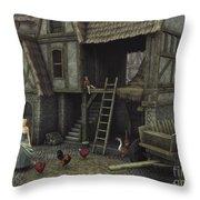 Medieval Idyll Throw Pillow