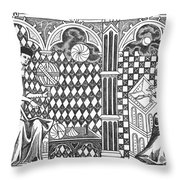 Medieval Mathematicians Throw Pillow