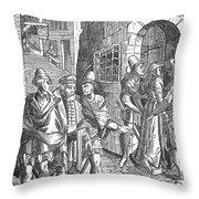 Medieval Prison, 1557 Throw Pillow