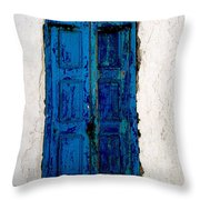 Mediterranean Blue  Throw Pillow