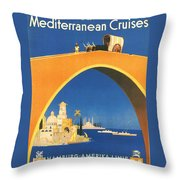 Mediterranean Cruising Throw Pillow
