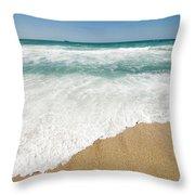 Mediterranean Shore Throw Pillow