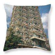Meenakshi Temple Throw Pillow
