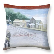Meeting At Fort Meade Throw Pillow