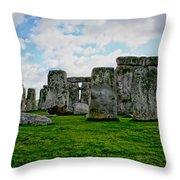 Megaliths Throw Pillow