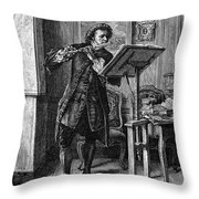 Meissonier: Flute Player Throw Pillow
