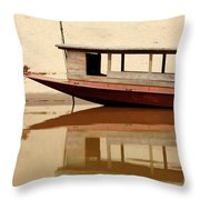 Mekong Reflection 2 Throw Pillow