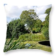 Melbourne Pool And Weir Throw Pillow