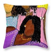 Mellow Sistahs Throw Pillow