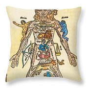 Melothesic Figure Throw Pillow