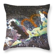 Melted Pin Up Girl Throw Pillow