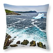 Melting Iceberg In Newfoundland Throw Pillow