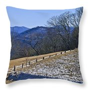 Melting Snow Throw Pillow