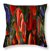 Melting Wax Throw Pillow