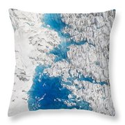 Meltwater Lakes On Hubbard Glacier Throw Pillow