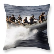 Members Of A Visit, Board, Search Throw Pillow