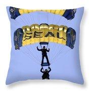 Members Of The U.s. Navy Parachute Throw Pillow