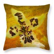 Memories Of An  Orchid Throw Pillow