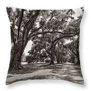 Memory Lane Monochrome Throw Pillow by Steve Harrington