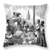 Memphis: Black Orphanage Throw Pillow