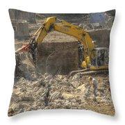Men At Work Construction Site Throw Pillow