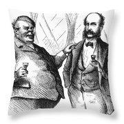 Men Drinking, 1872 Throw Pillow