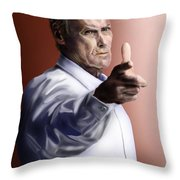 Men Must Know Their Limitations-clint Eastwood Throw Pillow by Reggie Duffie