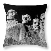 Men Working On Mt. Rushmore Throw Pillow