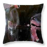 Menacing - He Waits For Dark For Her Throw Pillow